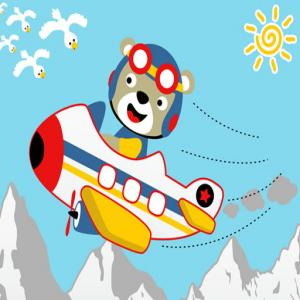 Friendly Airplanes For Kids Coloring
