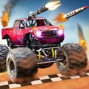 Monster Truck проти Zombie Death Shooting Game
