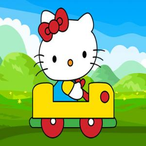 Nettes Kitty Car Puzzle