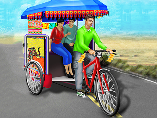 Public Tricycle Rickshaw Driving